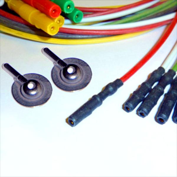 Connection cables for M0835 disposable non-metallic silver chloride electrodes