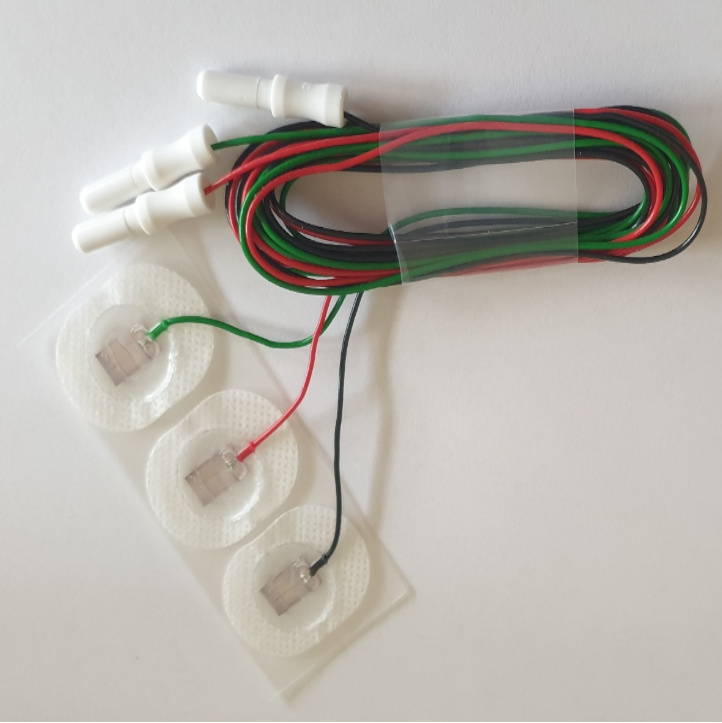 Disposable fixed cable solid-gel electrodes